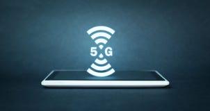 Konzept des Internets 5G und des Netzes Internet Stockfotos
