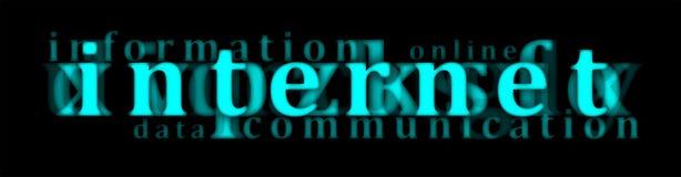 Konzept des Internets (Wortwolke) Stockbild