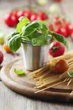 Konzept des italienischen Lebensmittels mit Teigwaren Stockbilder