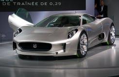 Konzept des Jaguar-C-X75 an der Paris-Autoausstellung stockbild