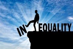 Konzept des Kampfes mit Ungleichheit in der Gesellschaft stock abbildung