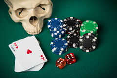 Konzept des Kasinos Lizenzfreies Stockfoto