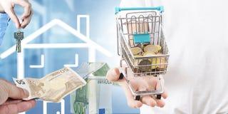Konzept des kaufenden Hauses lizenzfreie abbildung