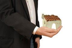 Konzept des Kaufens oder des Mietens eines Hauses stockbild