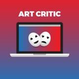 Konzept des Kunst Kritiker-Arbeitsmomentes Frau ist ein realistisches Baumuster 3d des Fotos Stockbild