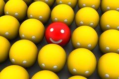 Konzept des Lächelns 3d Stockbilder