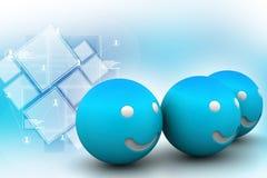 Konzept des Lächelns 3d Lizenzfreies Stockbild