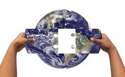 Konzept des Lösens von Erde \ 'von s-Problemen Lizenzfreie Stockfotografie