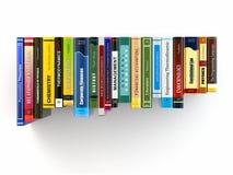 Konzept des Lernens. Bücher auf dem Regal. Lizenzfreie Stockbilder