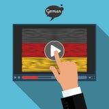 Konzept des Lernens von Sprachen Studien-Deutscher Lizenzfreie Stockfotos