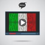 Konzept des Lernens von Sprachen Studien-Italiener Lizenzfreie Stockbilder