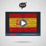 Konzept des Lernens von Sprachen Studien-Spanisch Lizenzfreies Stockbild