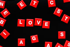 Konzept des Liebeswortes Stockbilder