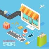 Konzept des on-line-Shops Lizenzfreie Stockbilder