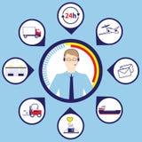 Konzept des Logistikgeschäfts Lizenzfreies Stockfoto