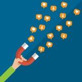 Konzept des Marketings und der sozialen Netzwerke Lizenzfreie Stockbilder