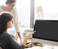 Konzept des Modell-Kopien-Raum-leeren Bildschirms lizenzfreies stockfoto