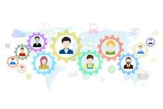 Konzept des modernen Geschäfts und der Teamwork Lizenzfreie Stockfotos