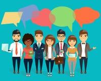 Konzept des modernen jungen Geschäftsdialogs Stockbild