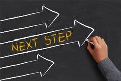 Konzept des nächsten Schritts Lizenzfreies Stockbild