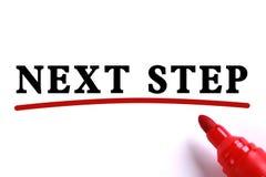 Konzept des nächsten Schritts Lizenzfreies Stockfoto