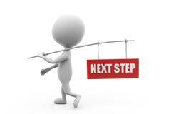 Konzept des nächsten Schritts des Mannes 3d Lizenzfreie Stockbilder