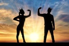 Konzept des Narzissmus und des Egoismus in der Gesellschaft Stockbilder