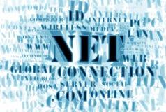 Konzept des Netz und Web â Wortes bewölken sich Stockfoto