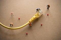 Konzept des Netzes überprüfen Anhänger oder Verwalter stockfoto