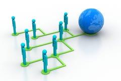 Konzept des Netzes des globalen Geschäfts Lizenzfreie Stockbilder