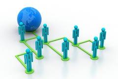 Konzept des Netzes des globalen Geschäfts Stockbild