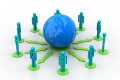 Konzept des Netzes des globalen Geschäfts Stockbilder