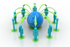 Konzept des Netzes des globalen Geschäfts Stockfoto