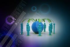 Konzept des Netzes des globalen Geschäfts Stockfotografie