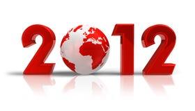 Konzept des neuen Jahres 2012 Lizenzfreie Stockbilder