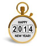 Konzept 2014 des neuen Jahres Stockfoto