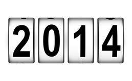 Konzept 2014 des neuen Jahres Stockfotos