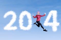 Konzept 2014 des neuen Jahres Stockbilder