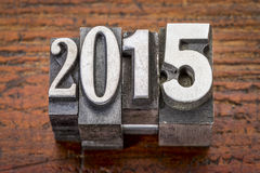 2015 - Konzept des neuen Jahres Stockfotos