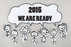 Konzept des neuen Jahres 2015 Stockfotografie