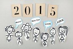 Konzept des neuen Jahres 2015 Stockfotos