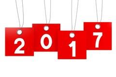 Konzept des neuen Jahres 2017 Lizenzfreie Stockfotos