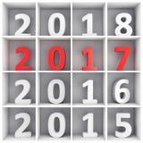 Konzept des neuen Jahres Stockbild
