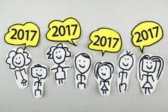 Konzept 2017 des neuen Jahres Stockfotografie