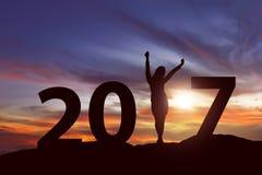 Konzept des neuen Jahres 2017 Stockfotografie