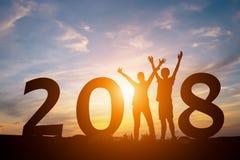 Konzept 2018 des neuen Jahres Stockfoto