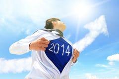 Konzept des neuen Jahres des Willkommens 2014 Lizenzfreie Stockfotos