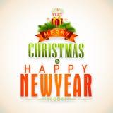 Konzept des neuen Jahres und der Weihnachtsfeier Lizenzfreies Stockbild