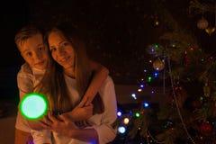 Konzept des neuen Jahres, des Weihnachten und der Familie stockfotografie