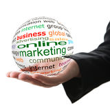 Konzept des Online-Marketings im Geschäft Lizenzfreies Stockbild